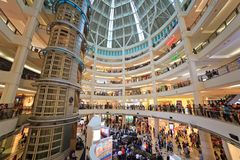 Suria shoppinggalleria Kuala Lumpur, Malaysia Arkivfoton