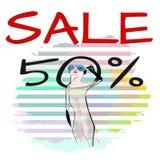 Suricate divertente astratto Meerkat di tiraggio dell'acquerello in occhiali da sole Fotografie Stock Libere da Diritti
