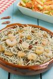 Surimi幼鳗用大虾、大蒜和胡椒 库存照片