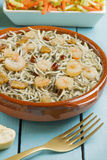 Surimi幼鳗用大虾、大蒜和胡椒 库存图片