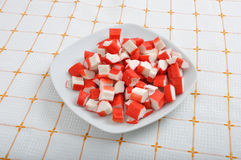 Surimi - crab fingers Royalty Free Stock Photo