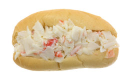 Surimi crab meat with mayonnaise sandwich top view Royalty Free Stock Images