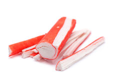 Surimi crab stick closeup Royalty Free Stock Photo