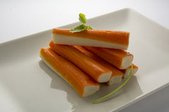 Surimi or crab sticks Royalty Free Stock Photos