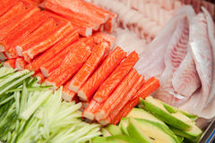 Surimi, fish avocado for sushi Stock Photography