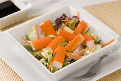 Surimi salad. Royalty Free Stock Photography