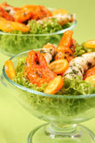 Surimi salad with kumquat Stock Photography
