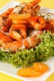 Surimi salad with kumquat Stock Images