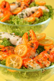 Surimi salad with kumquat Royalty Free Stock Photos
