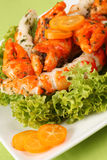 Surimi salad with kumquat Royalty Free Stock Photo