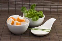 Surimi tzatziki and salad Royalty Free Stock Photo