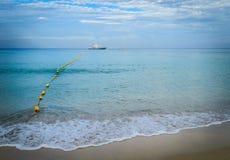 Surin海滩早晨,普吉岛 免版税库存照片