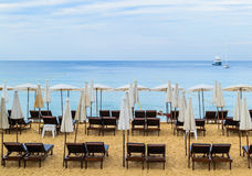 Surin海滩早晨,普吉岛 库存图片