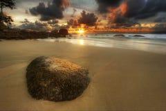 surin камня песка пляжа Стоковая Фотография RF