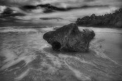Surin beach in bad weather - 5 stock photo