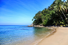 Surin Beach, Phuket, Thailand. Gorgeous Surin Beach at morning. Phuket, Thailand Stock Images