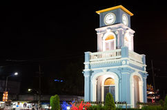 Surin Circle with clock tower in Phuket Town Stock Photo