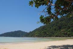 Surin-Inseln, der berühmte Bestimmungsort des Unterwasseratemgeräts und des Schnorchelns des Reisens Stockfoto
