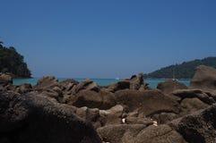 Surin-Inseln, der berühmte Bestimmungsort des Unterwasseratemgeräts und des Schnorchelns des Reisens Stockbild