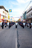 Surin Parade Marching Band V. SURIN, ISAN, THAILAND - NOVEMBER 19, 2010: A group of high schoolers play music  as a marching band in a parade at the annual Surin Stock Photo