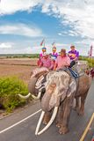 SURIN, THAILAND - MAY 16: Traditional parade to the river as an Royalty Free Stock Photos