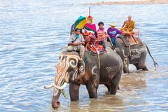 SURIN, THAILAND - MAY 16: Traditional parade to the river as an Royalty Free Stock Photography