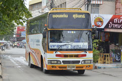 Surin to Khon Kaen tour bus car Royalty Free Stock Image