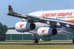 Surinam Airways jorra Imagem de Stock Royalty Free