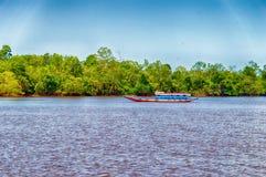 Suriname łódź Obrazy Royalty Free