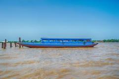Suriname błękita łódź Obrazy Royalty Free