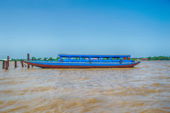Suriname Blue Boat Royalty Free Stock Images