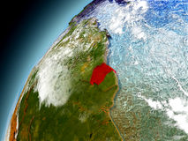 Suriname de la órbita de Earth modelo Fotografía de archivo
