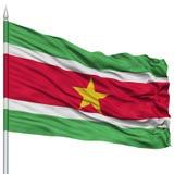 Suriname Flag on Flagpole Royalty Free Stock Image
