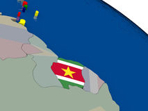 Suriname  with flag Stock Photos