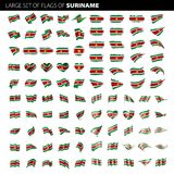 Suriname flag, vector illustration. On a white background. Big set Stock Photography
