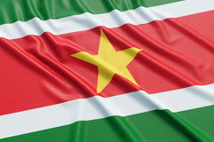 Suriname flag Royalty Free Stock Photography