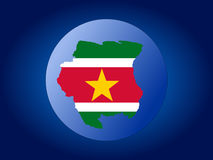 Suriname globe Royalty Free Stock Images