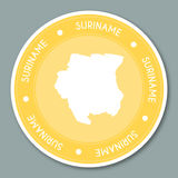 Suriname label flat sticker design. Royalty Free Stock Photo