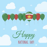 Suriname National Day Flat Patriotic Poster. Royalty Free Stock Photography