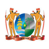 Suriname native coat of arms stock illustration