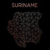 Suriname network map. Stock Photo