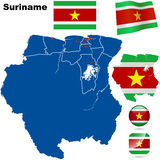 Suriname set Stock Photography