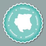 Suriname sticker flat design. Royalty Free Stock Photography