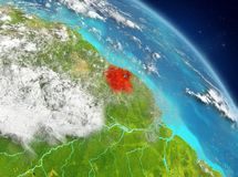 Suriname van baan Royalty-vrije Stock Afbeelding