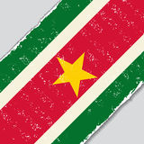 Surinamese grunge flag. Vector illustration. Stock Photography
