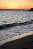 Surise on the beach Royalty Free Stock Photo