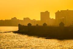 Surise coloré à La Havane Image stock