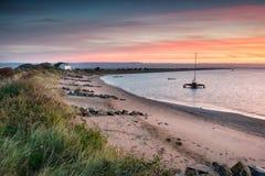 Surise en Devon Coast foto de archivo
