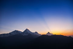 Surise in Himalaya Stock Photography