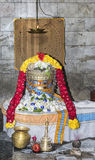 The Suriya Shiva Lingam in its shrine. Stock Photography